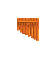bamboo pan flute ethnic music wind instrument vector image