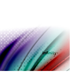 Blurred mixing liquid flowing colors abstract vector