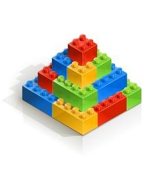 Brick piramid meccano toy vector