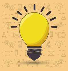 bulb creative ideas concept vector image