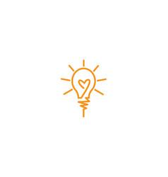 bulb ilustration logo vector image