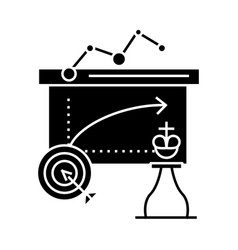 business tactics icon sig vector image