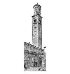 Campanile church vintage engraving vector
