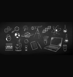 chalk science objects vector image