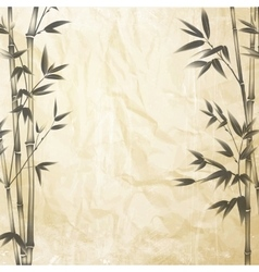 Chinese bamboo design vector