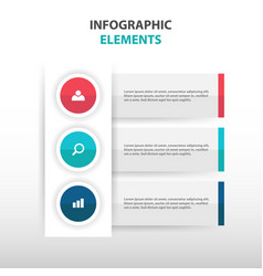 colorful abstract business infographics elements vector image