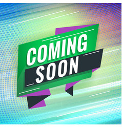 coming soon promotional concept template vector image