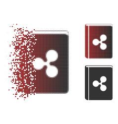 Damaged dot halftone ripple book icon vector