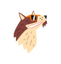 dog in sunglasses animal portrait cartoon vector image