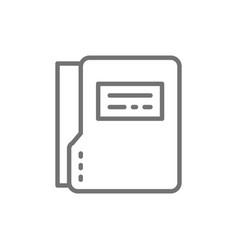 file folder dossier folder line icon vector image