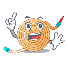 Finger the water hose mascot vector
