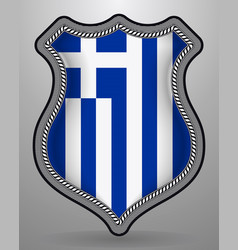 Flag of greece badge and icon vector