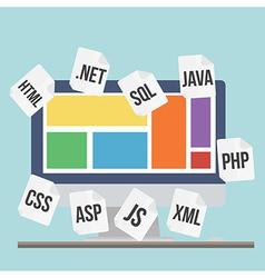 flat design modern concept process web pa vector image