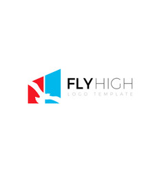 fly high financial investment symbol logo design vector image