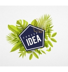 Frame floral idea lime vector