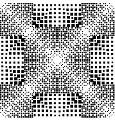 Geometric halftone seamless pattern vector