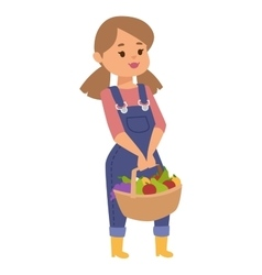 Girl with fruits vector image
