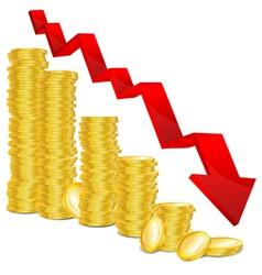 Golden coin graph vector
