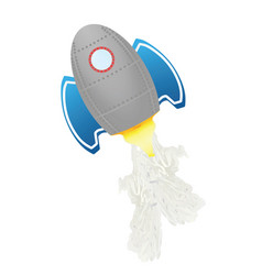 grey flying rocket vector image