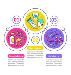 Hairdresser salon service infographic template vector