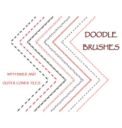 Hand drawn brushes vector image