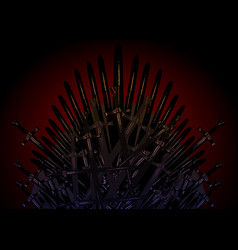 hand drawn iron throne middle ages vector image