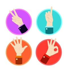 Hand gesture icons set vector image