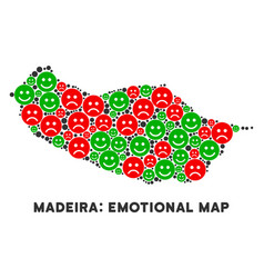 Happiness portugal madeira island map vector