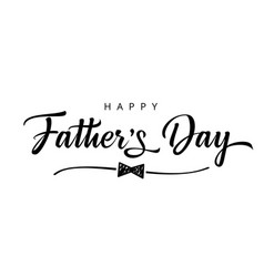 happy fathers day doodle bow typography banner vector image