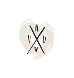 happy valentines day print design vector image