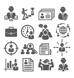 head hunting icons on white background vector image