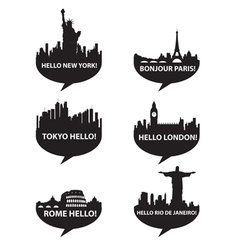 Hello city vector
