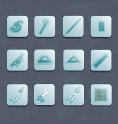 Industrial architect icon set vector