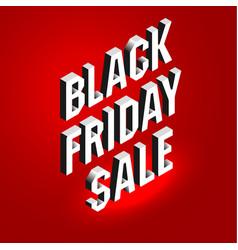 isometric lettering banner for black friday sale vector image