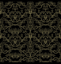 italian vintage seamless pattern for wallpaper vector image