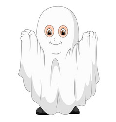kid in a ghost costume vector image