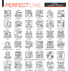 Legal law and justice outline mini concept vector
