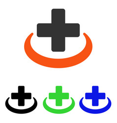 Medical community flat icon vector