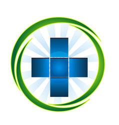 medical emergency pharmacy cross icon vector image