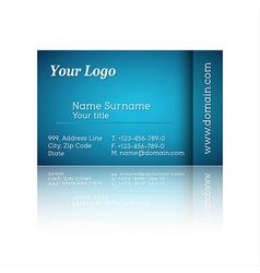 Modern blue business card vector