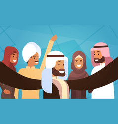 Muslim people crown man and woman traditional vector