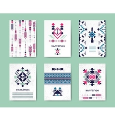 Native american tribal creative cards and vector