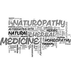 Naturopathy word cloud concept vector