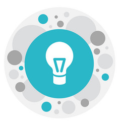 Of science symbol on bulb icon vector