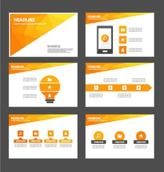 Orange Polygon presentation templates Infographic vector