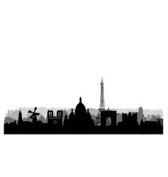 paris city skyline famous place cityscape vector image