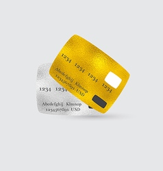Platinum and Golden Bank Cards vector image