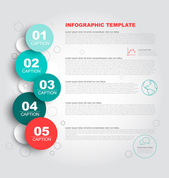 progress steps template vector image