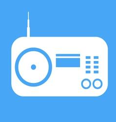 radio icon on blue background vector image