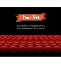 Red cinema theatre seats vector